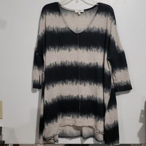 Umgee USA Black & Tan Sweater Size L